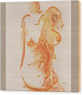 Female Form Wood Print