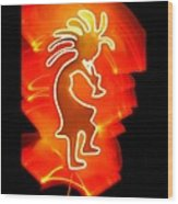 Female Kokopelli Wood Print