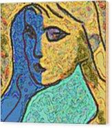 Feminine Kaleidoscope Wood Print