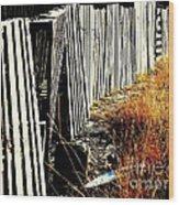 Fence Abstract Wood Print by Joe Jake Pratt