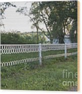 Fence Or Shoes Wood Print