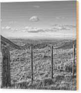 Fenceline Wood Print