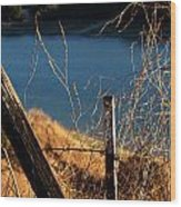 Fenceposts Wood Print