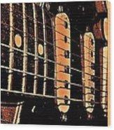 Fender In Brown Wood Print
