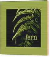 Fern Wood Print
