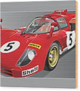Ferrari 512  S Wood Print