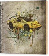 Ferrari Dino 246 Gts Wood Print
