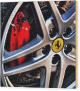 Ferrari Shoes Wood Print