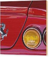 Ferrari Taillight Emblem 2 Wood Print