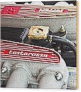 Ferrari Testarossa Wood Print by Andrew  Cragin