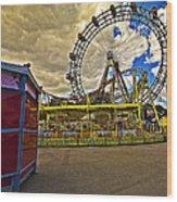 Ferris Wheel - Vienna Wood Print