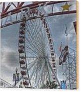 Ferris Wheel At The Pier Wood Print