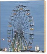 Ferris Wheel At Virginia Beach Wood Print