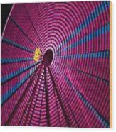 Ferris Wheel In Pink Wood Print