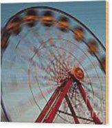 Ferris Wheel Iv Wood Print