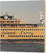 Ferry Time Wood Print