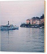 Ferry To Bellagio On Lake Como Wood Print