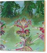 Festive Fairies Wood Print
