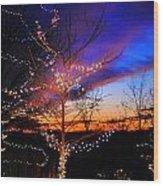 Festive Lights Wood Print