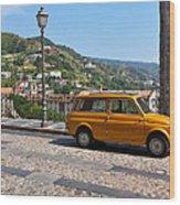 Fiat 500 Amantea Wood Print
