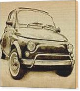 Fiat 500l 1969 Wood Print by Michael Tompsett
