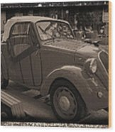 Fiat Dream Car Wood Print