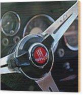 Fiat Steering Wheel Wood Print