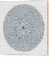 Fibonacci Web Wood Print