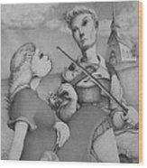 Fiddle Wood Print by Louis Gleason