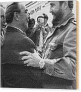 Fidel Castro Wood Print