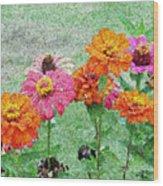 Field Of Flowers Impressionism Wood Print