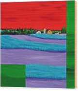 Fields Of Green Wood Print by Randall Weidner