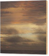 Fiery Atlantic Sunrise 1 Wood Print