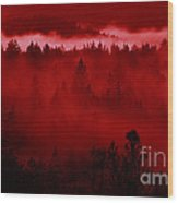 Fiery Forest  Wood Print