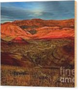 Fiery Painted Hills Wood Print