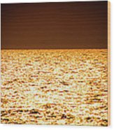 Fiery Sunset Over The Sea Wood Print