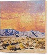 Fiery Western Sky Antarres Road Az Wood Print