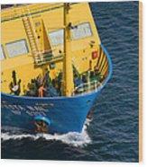 Fiesta Mail At Nassau Harbor Wood Print