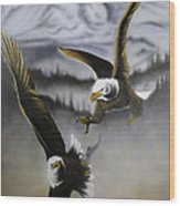 Fight In Flight 1 Wood Print