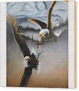 Fight In Flight Wood Print