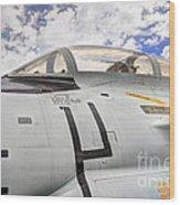 Fighter Jet Cockpit Wood Print
