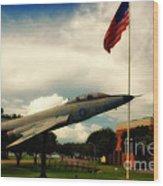 Fighter Jet Panama City Fl Wood Print