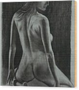 Figure Drawing Wood Print