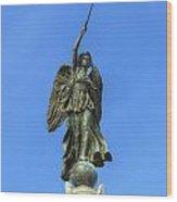 Figure Of Winged Victory At Gettysburg Wood Print by Randy Steele