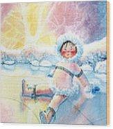 Figure Skater 10 Wood Print