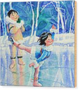 Figure Skater 15 Wood Print