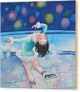 Figure Skater 16 Wood Print