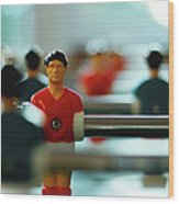 Figurine Of Football Player Wood Print by D.Reichardt