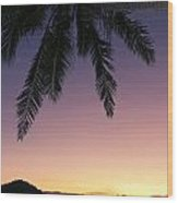 Fiji Sunset Glow Wood Print