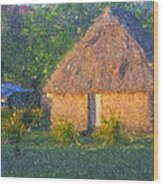 Fijian Bure Wood Print